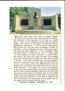 Lincoln Speech Memorial and Address, Gettysburg, Pennsylvania,