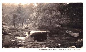 HEBDEN BRIDGE YORKSHIRE UK~HARDCASTLE CRAGS~ FISHERMAN'S HUT~PHOTO POSTCARD 1911