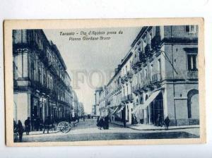 206466 ITALY TARANTO Aquinio street Vintage postcard