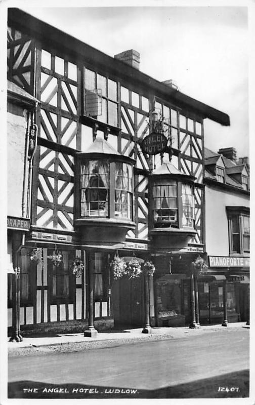 England Ludlow, Angel Hotel (Shropshire) real photo, best wishes