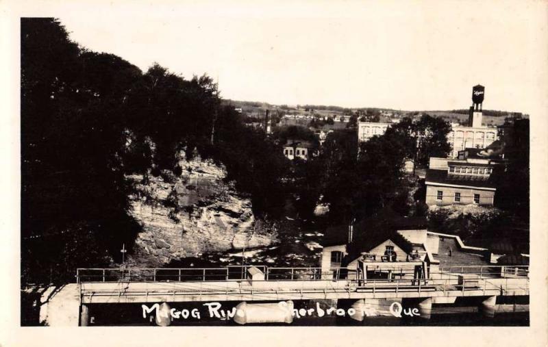 Sherbrooke Quebec Canada Magog River Real Photo Antique Postcard K54829