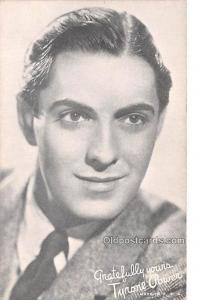 Tyrone Power Movie Star Actor Actress Film Star Postcard, Old Vintage Antique...