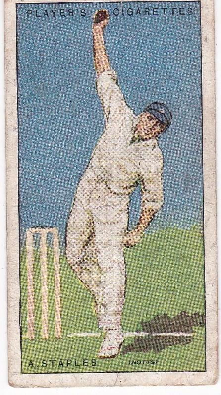 Cigarette Cards Player's Cricketers 1930 No 39 - A Staples