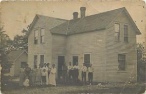 Henning Minnesota~Amanda Anderson House And Family~1912 Real Photo Postcard