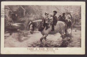 Take a Ride With US ,Horse,Children,Painting Postcard