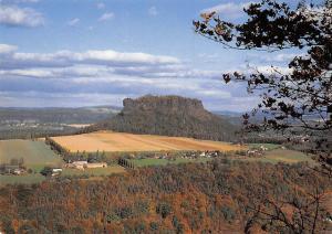 Elbsandsteingebirge Blick zum Lilienstein Gesamtansicht