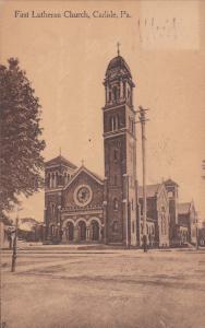 CARLISLE , Pennsylvania, PU-1912 ; First Lutheran Church