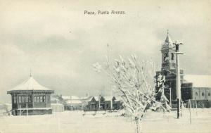 chile, PUNTA ARENAS, Magallanes, Plaza Muñoz Gamero with Church (1910s)