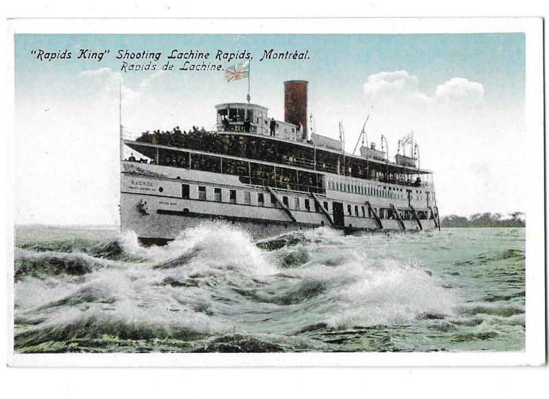 Rapids King Ferry Boat Shooting Lachine Rapids Montreal Canada Printed Germany