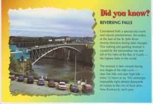 REVERSING FALLS, SAINT JOHN RIVER, NB