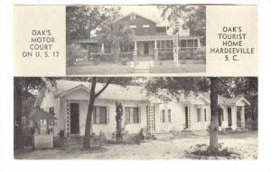 Oak's Motor Court On U.S. 17, Oal's Tourist Home, Hardeeville, South Carolina...