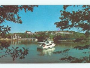 Pre-1980 BOAT AT TAN-TAR RESORT MOTEL Osage Beach - Near Lake Ozark MO W6556