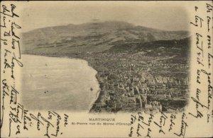 Martinique St. Pierre Morne d'Orange 1904 Used Postcard Cover