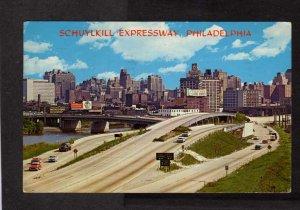PA Schuylkill Expressway Highway Freeway Philadelphia Pennsylvania Postcard