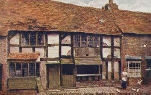 Warwickshire Postcard - Shakespeare's Cottage Before Restoration RS22783