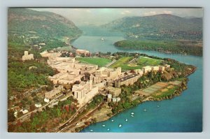 West Point NY-New York, United States Military Academy, Aerial Chrome Postcard