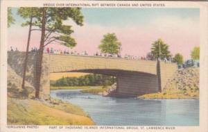 St Lawrence River Bridge Over International Rift Between Canada and United St...