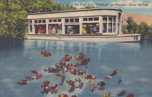 Florida Silver Springs The Fish Play Football At Floridas Silver Springs 1954...