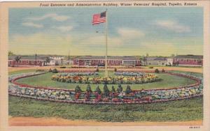 Kansas Topeka Front Entrance and Administration Building Winter Veterans' Hos...