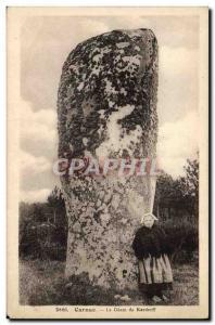 Old Postcard Dolmen Menhir Carnac The giant of Kerderff