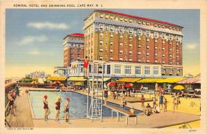 8974  NJ Cape May   Admiral Hotel and Swimming Pool