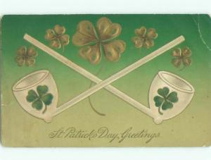 Divided-Back ST. PATRICK'S DAY SCENE Great Postcard W8122