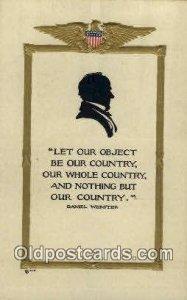Daniel Webster United States Political Unused very light crease right edge ha...