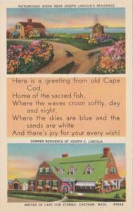 Massachusetts Cape Cod Picturesque Scene Residence Of Joseph C Lincoln