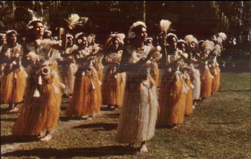Tahiti Tahitian Dancers Used 1962 Cancel & Stamp - Postcard