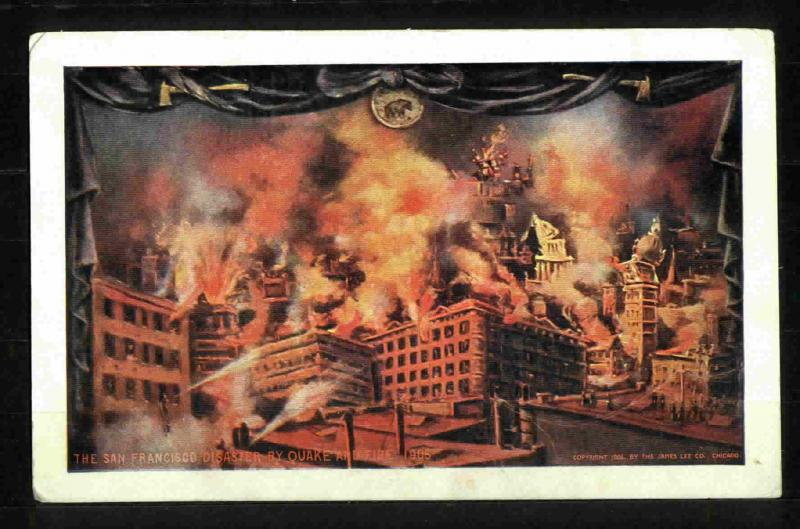 POSTCARD-VINTAGE - SAN FRANCISCO EARTH QUAKE AND FIRE