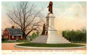 Rhode Island Providence , Roger Williams Statue and Betsey Williams House