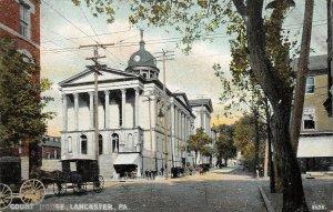 LPS62 Lancaster Pennsylvania Court House Town View Postcard