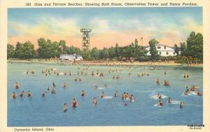 1940s Beaches Bath House Observation Tower Dance Catawaba Ohio Teich 1366