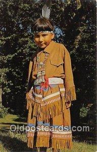 Bi-Taw, Chippewa Indian Girl Lake Mille Lacs, Minnesota, USA Unused