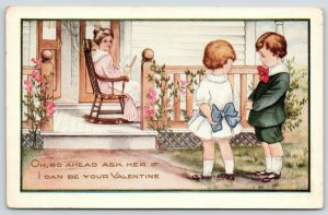 Valentine~Mama on Porch~Shy Boy~Girl: Go Ahead & Ask Her!~Emboss~Whitney Made