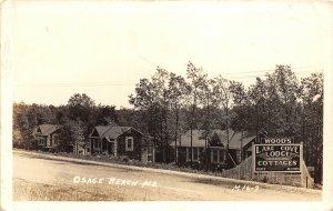 F44/ Osage Beach Missouri RPPC Postcard c40s Lake Cove Lodge