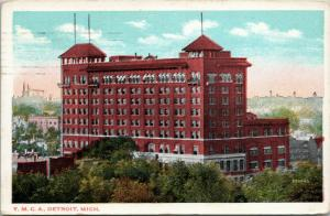 Detroit YMCA, Michigan, posted 1915 Valentine-Souvenir company