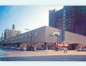 Unused Pre-1980 GREYHOUND BUS STATION Chicago Illinois IL hn6839