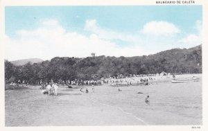 PUERTO VALLARTA, Spain, 1910-1920s; Balneario De Caleta, Beach Goers