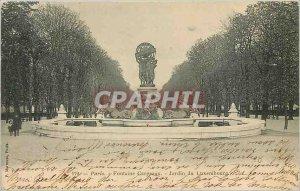 Old Postcard Paris Fountain Carpeaux Luxembourg Gardens