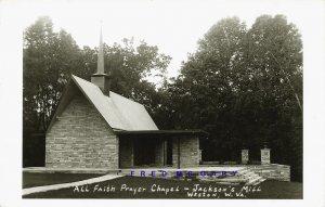 Circa-1930 Jackson's Mill WV Real Photo Postcard: All Faith Prayer Chapel