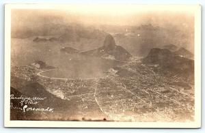 Postcard Brazil  RPPC Birds-eye View of Rio de Janeiro Dutcher Real Photo C9