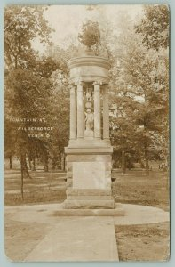 Xenia Ohio~Wilberforce University Campus Fountain~AME Church College~1910 RPPC