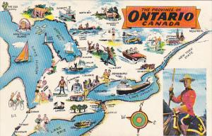 Map Of The Province Of Ontario Canada