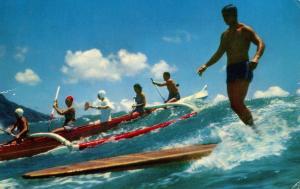 HI - Waikiki. Surfing and Outrigging