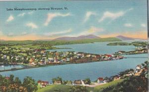 Vermont Newport Aerial View Lake Memphremagog