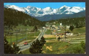 CO Aerial Entrance ESTES PARK COLORADO Postcard PC