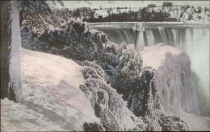 Niagara Falls - Unusual Lighthouse Overprint c1910 Postcard