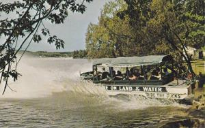 Duck Entering Lake Delton, Car Boat, Fun Adventure Tours, Wisconsin Dells, Wi...