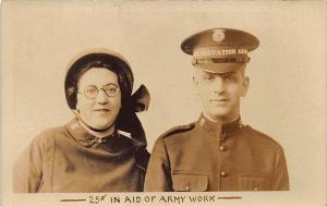 Salvation Army 25¢ in Aid of The Army RPPC Postcard
